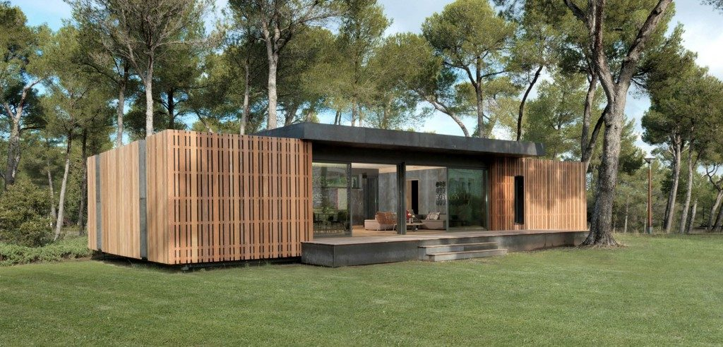La pop up house qui utilise la procédé de lamellé-collé